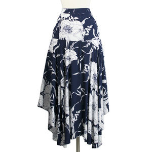 Last One!! Floral Print Waterfall Skirt | Large